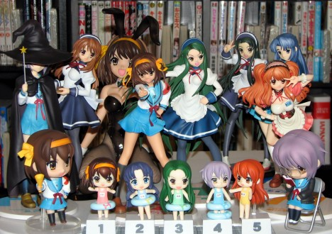 My current haruhi figure collection.